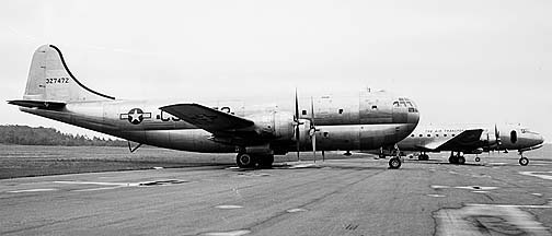 Boeing XC-97 Stratofreighter 43-27472 and Douglas C-54D-DC Cargomaster 42-72754, GEARL, June 22, 1946