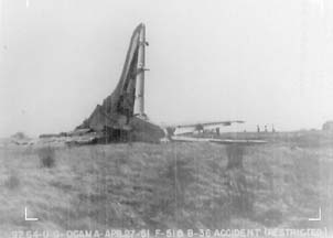 Tail section of B-36D 49-2658