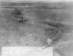 Aerial view of wreckage of RB-36H, 51-13722