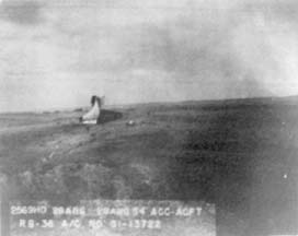 Tail section of RB-36H, 51-13722