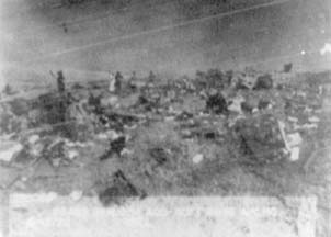 Debris trail of RB-36H, 51-13722