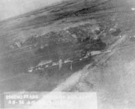 Aerial veiw of wings and forward fuselage of RB-36H, 51-13722
