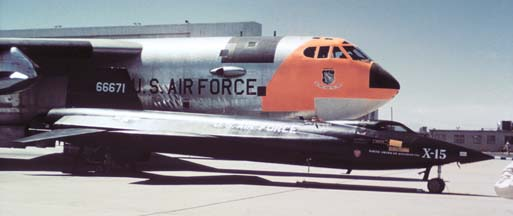 NB-52A, 52-0003 with X-15, 56-6671 at May 19, 1959 Edwards AFB Open House