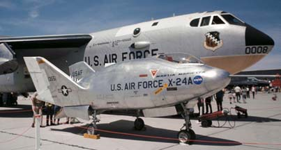 X-24A with NB-52B at 1970 Edwards AFB Open House