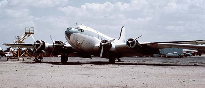 Boeing 307 N19903 at Falcon Field, Arizona on May 7, 1971