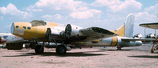 Boeing B-17G Flying Fortress, Yucca Lady at Falcon Field, Mesa, Arizona on May 7, 1971