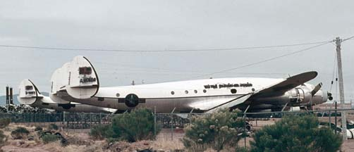 VC-121B, 48-0608 and VC-121A, 48-0611 in storage near Davis-Monthan AFB on February 11, 1972