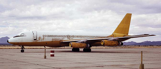 Former Northeast Airlines Convair 880, N8494H in storage at Marana, Arizona on February 11, 1972