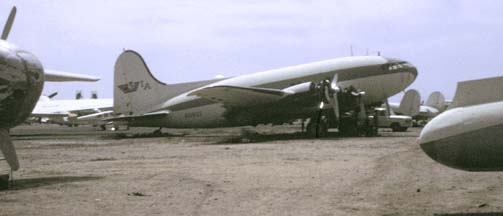 Boeing 307 N19903 at Falcon Field, Arizona in April 1972