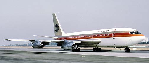 Continental Airlines 720-024B N17207, Los Angeles, July 22, 1972