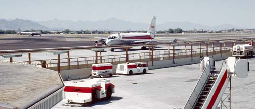 TWA Convair 880 at Phoenix, Arizona on September 10, 1972