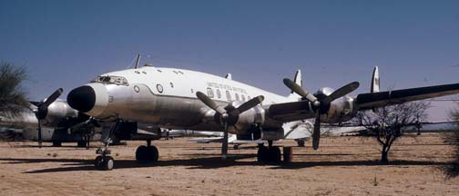 VC-121A, 46-614 Columbine I at the Pima County Air Museum on March 31, 1974