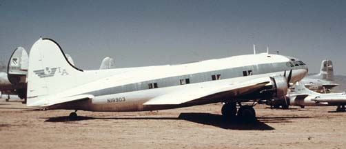 Boeing 307 N19903 at the Pima Air Museum, Arizona on March 31, 1974