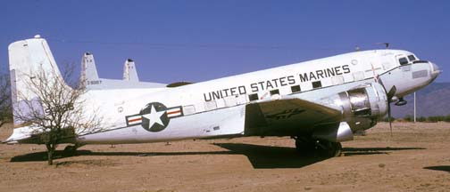 Marine Corps C-117D, BuNo 50826, Pima County Air Museum, March 31, 1974