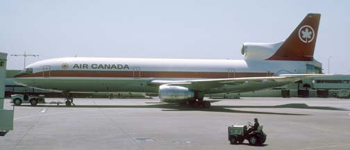 Air Canada Lockheed L-1011, C-FTNJ at Los Angeles, April 13, 1974