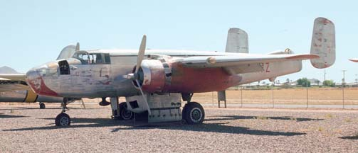 North American B-25J Mitchell, NL9117Z at Falcon Field, Arizona on May 4, 1974