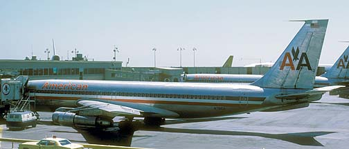 American Airlines 707-123B N7510A, San Francisco, August 6, 1974