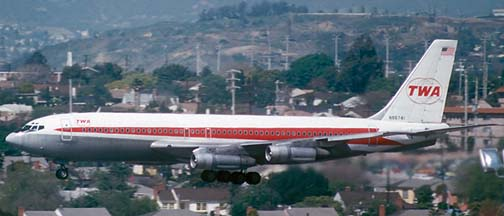 TWA 707-131B N86741, Los Angeles, March 28, 1975