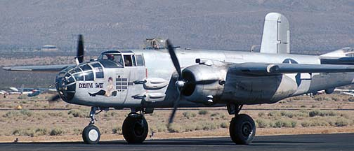 North American B-25J Mitchell, N30801 Executive Sweet at the Mojave Air Races on June 19, 1975