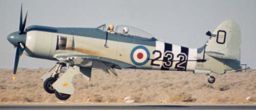 Hawker Sea Fury FB Mk 11, N232 at the Mojave Air Races on June 21, 1975