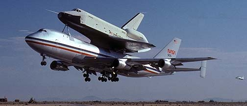 Boeing 747 Shuttle Carrier Aircraft, N905NA and Enterprise, ALT-1, August 12, 1977