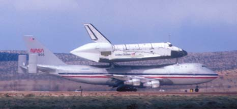 747-SCA takes off with Columbia on March 20, 1979