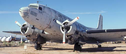 Marine Corps C-117D, BuNo 50826, display at the Pima County Air Museum, December 18, 1979