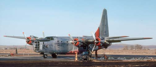 P4Y-2, N2872G 124 at Fox Field on November 26, 1980