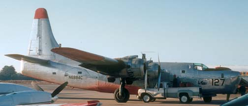 P4Y-2, N6884C 127 at Santa Barbara on November 28, 1980