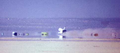 First landing of Columbia at Edwards AFB, April 14, 1981
