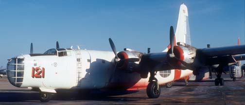 P4Y-2, N2871G 121 at Santa Barbara in October 1981