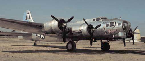 B-17G, N9323Z Sentimental Journey at Falcon Field, AZ on December 31, 1981
