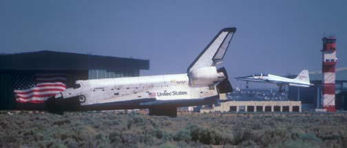 Columbia landing at Edwards AFB on July 4, 1982