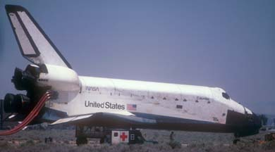Columbia at Edwards AFB on July 4, 1982