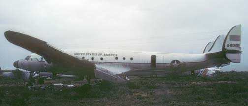 C-121A, 48-0610 in a storage yard adjacent to Davis-Monthan AFB on December 19, 1984