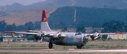 P4Y-2, N3739G c30 at Santa Barbara in July 1985