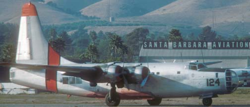P4Y-2, N2872G 124 at Santa Barbara on October 4, 1987