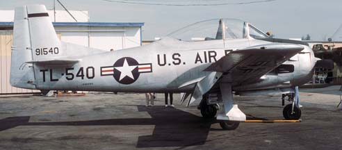 North American T-28A Trojan, NX99395 at Chino on October 18, 1987