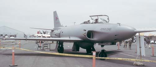 SAAB A32 Lansen, N5468V of Mach Two Incorporated at Brown Field, California on May 22, 1988