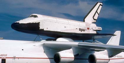 An-225 Mryia and Burran at the Paris Airshow on June 18, 1989
