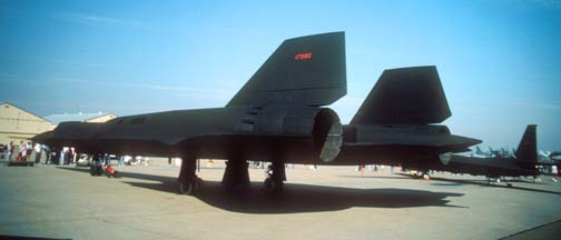 SR-71A 61-7980 at Beale AFB, October 14, 1989