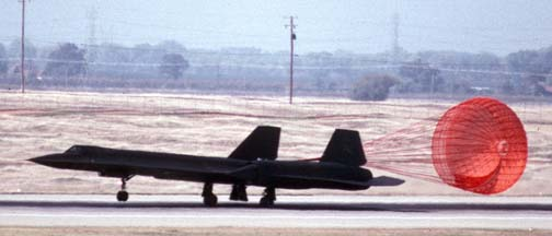 SR-71A 61-7976 at Beale AFB, October 14, 1989