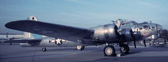 B-17G, N9323Z Sentimental Journey at Santa Barbara, CA on November 17, 1989