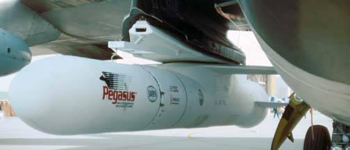 Orbital Sciences' Pegasus on NB-52B at October 6, 1990 Edwards AFB Open House