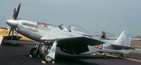 North American P-51D Mustang, NL6175C at the Point Mugu Airshow on October 13, 1990