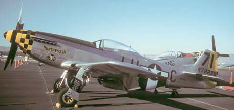North American P-51D Mustang, N471R at the Santa Maria Gathering of Mustangs on October 27, 1990