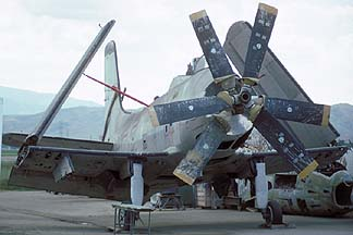 Douglas A2D Skyshark, Chino Airport on October 17, 1993