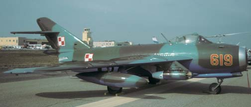 Lim-6 (Chinese built MiG-17), NX619M at the Point Mugu Airshow on October 1, 1994