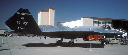Northrop YF-23 87-0800 at Edwards Air Force Base on October 19, 1996