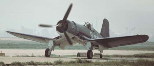 Goodyear FG-1D Corsair, N11Y at Chino on March 15, 1997